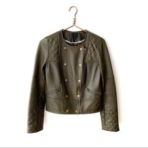 J.Crew Collection | Leather Double Breasted Jacket